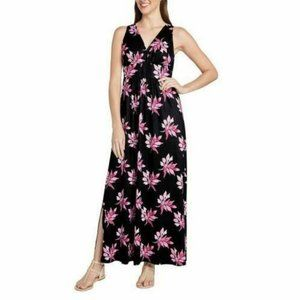 Matty M Women's Crossover Pull Over Maxi Dress